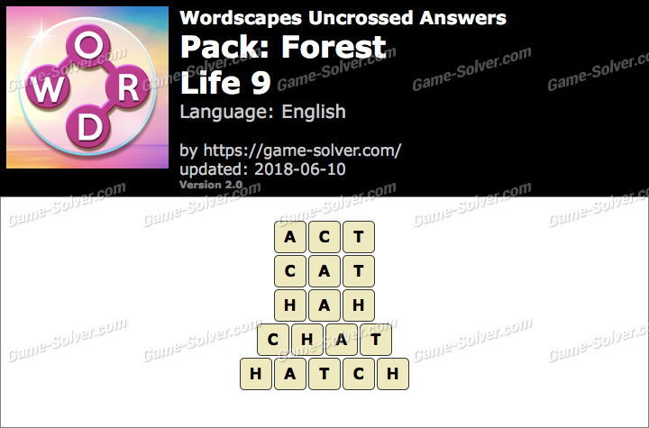 Wordscapes Uncrossed Forest-Life 9 Answers