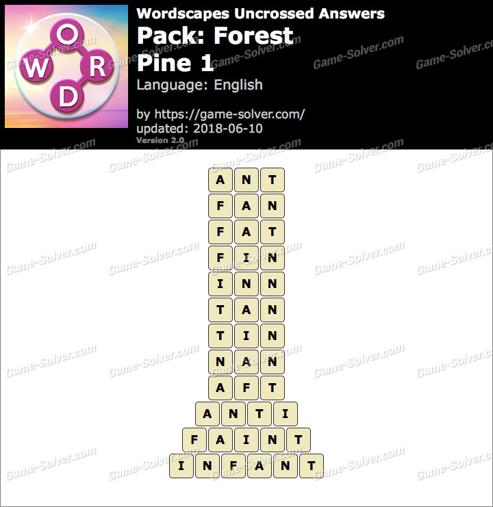 Wordscapes Uncrossed Forest-Pine 1 Answers