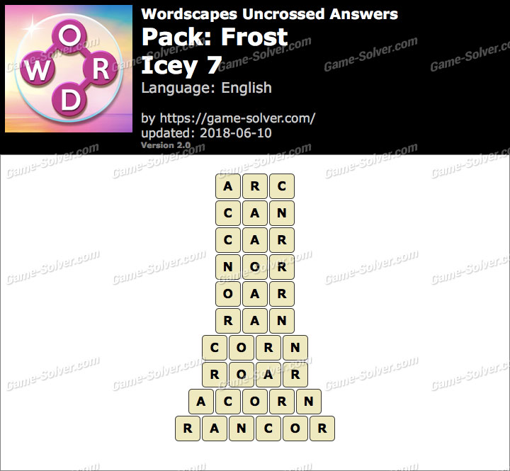 Wordscapes Uncrossed Frost-Icey 7 Answers