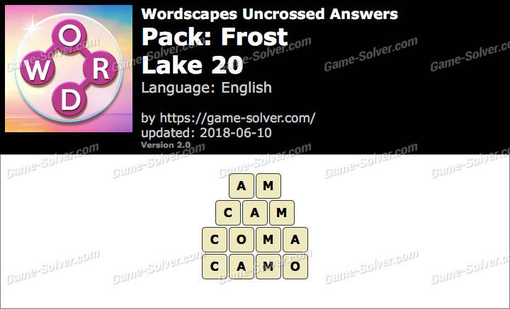 Wordscapes Uncrossed Frost-Lake 20 Answers