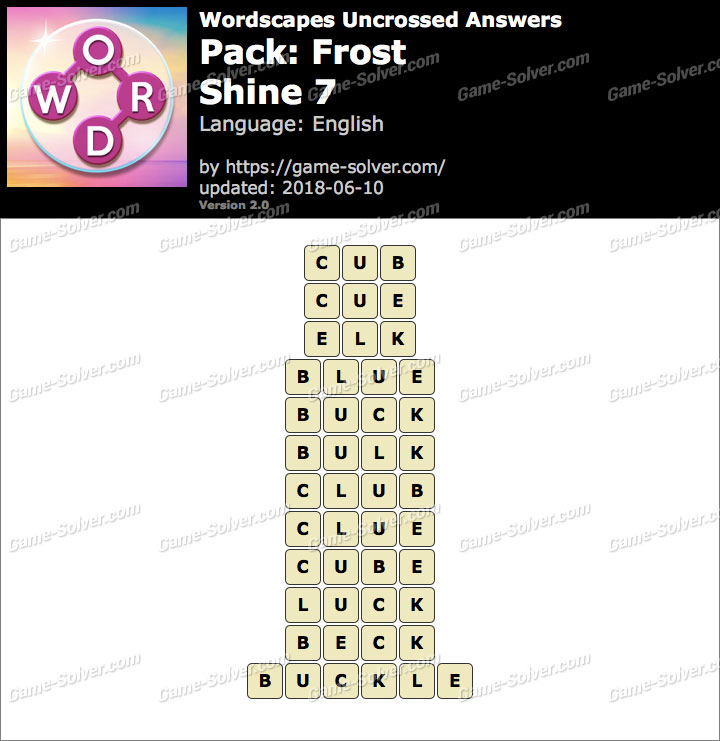 Wordscapes Uncrossed Frost-Shine 7 Answers