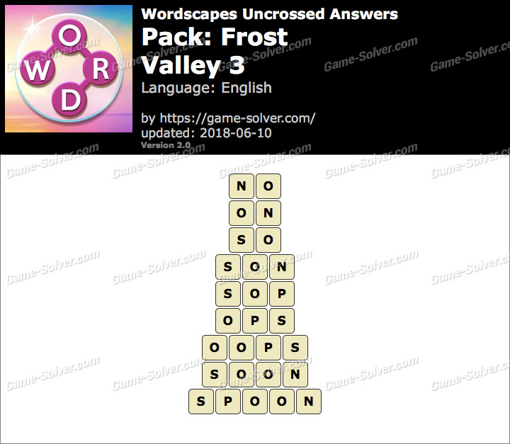 Wordscapes Uncrossed Frost-Valley 3 Answers