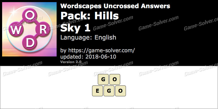 Wordscapes Uncrossed Hills-Sky 1 Answers