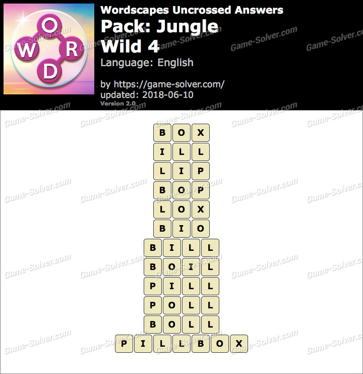 Wordscapes Uncrossed Jungle-Wild 4 Answers
