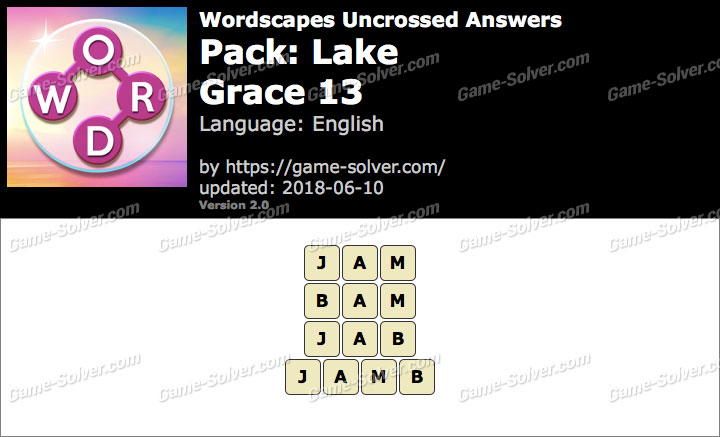 Wordscapes Uncrossed Lake-Grace 13 Answers