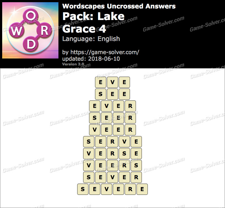 Wordscapes Uncrossed Lake-Grace 4 Answers