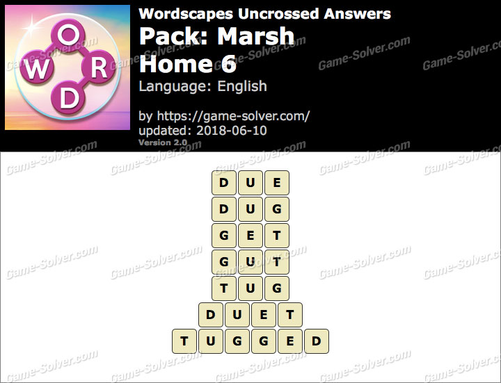 Wordscapes Uncrossed Marsh-Home 6 Answers