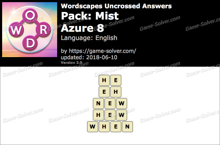 Wordscapes Uncrossed Mist-Azure 8 Answers