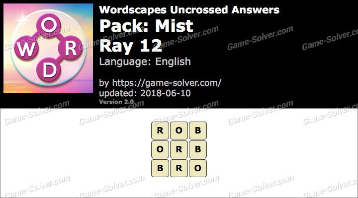 Wordscapes Uncrossed Mist-Ray 12 Answers