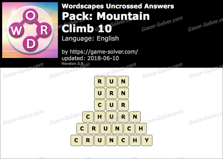 Wordscapes Uncrossed Mountain-Climb 10 Answers