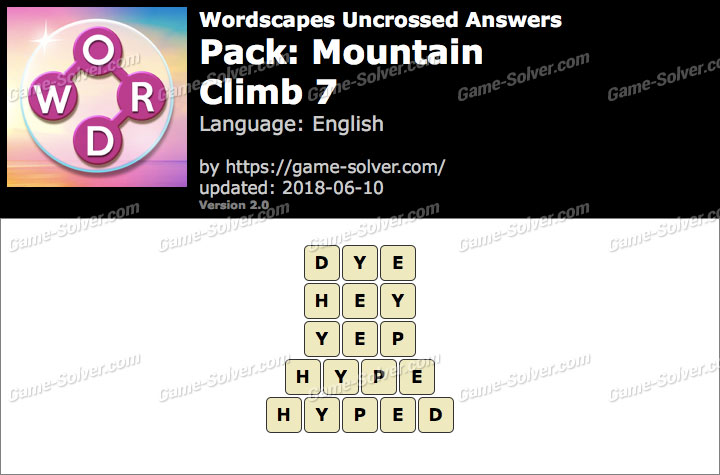 Wordscapes Uncrossed Mountain-Climb 7 Answers