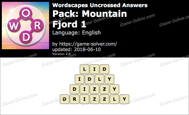 Wordscapes Uncrossed Mountain-Fjord 1 Answers