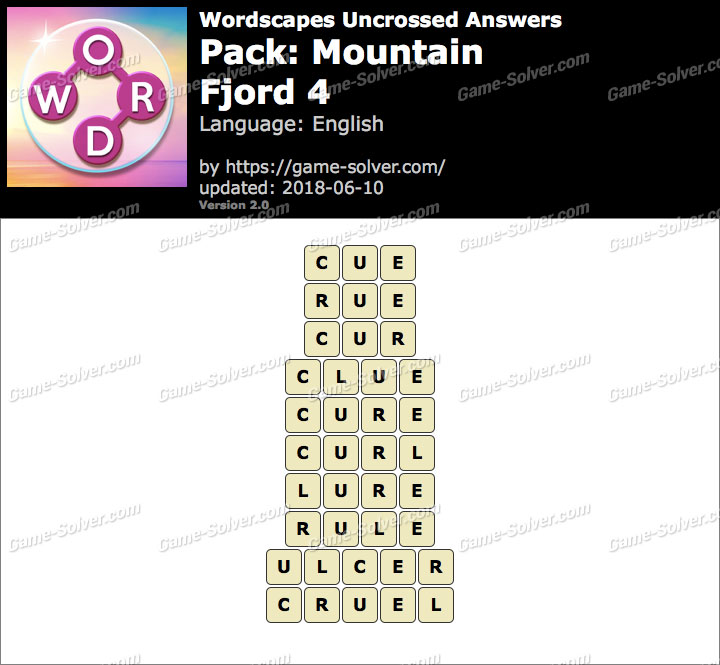 Wordscapes Uncrossed Mountain-Fjord 4 Answers