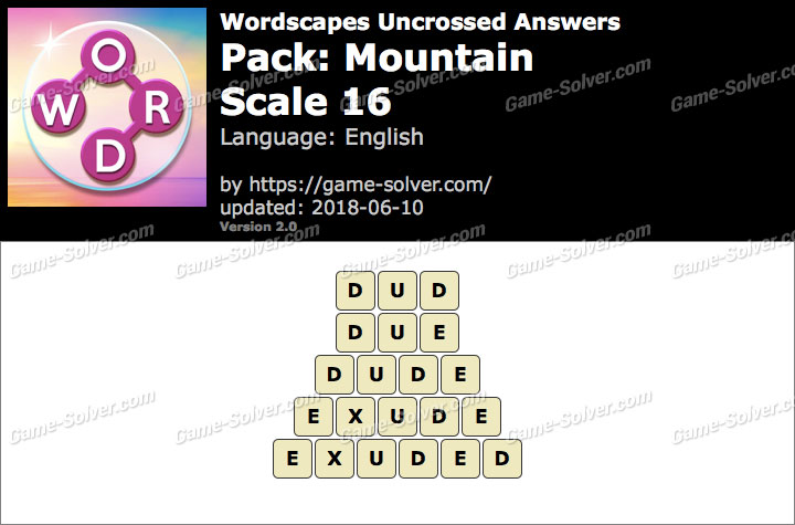 Wordscapes Uncrossed Mountain-Scale 16 Answers