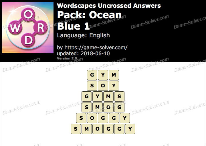 Wordscapes Uncrossed Ocean-Blue 1 Answers