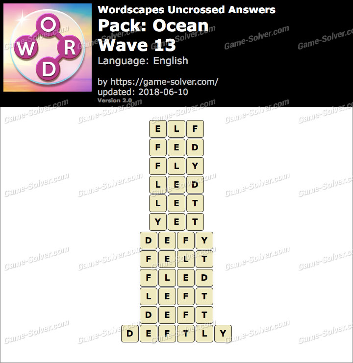Wordscapes Uncrossed Ocean-Wave 13 Answers