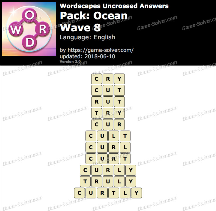 Wordscapes Uncrossed Ocean-Wave 8 Answers