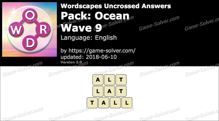 Wordscapes Uncrossed Ocean-Wave 9 Answers