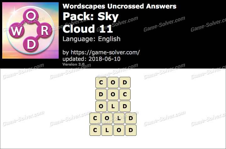 Wordscapes Uncrossed Sky-Cloud 11 Answers