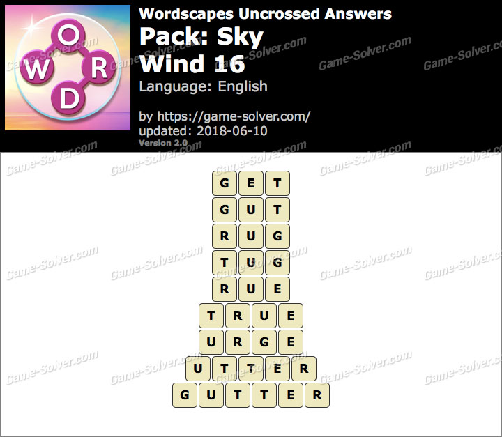 Wordscapes Uncrossed Sky-Wind 16 Answers