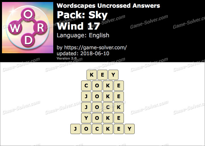 Wordscapes Uncrossed Sky-Wind 17 Answers