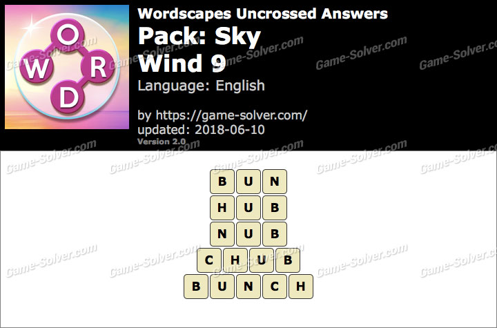 Wordscapes Uncrossed Sky-Wind 9 Answers