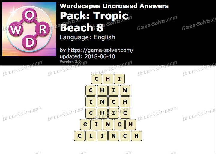 Wordscapes Uncrossed Tropic-Beach 8 Answers