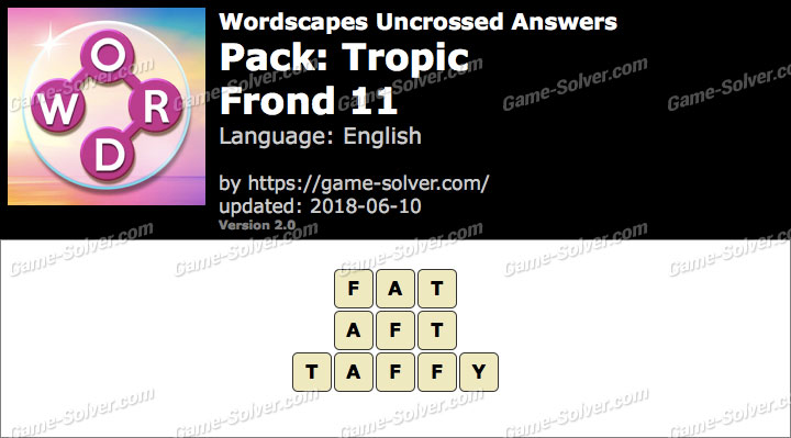 Wordscapes Uncrossed Tropic-Frond 11 Answers
