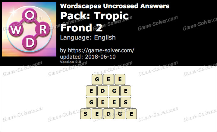 Wordscapes Uncrossed Tropic-Frond 2 Answers