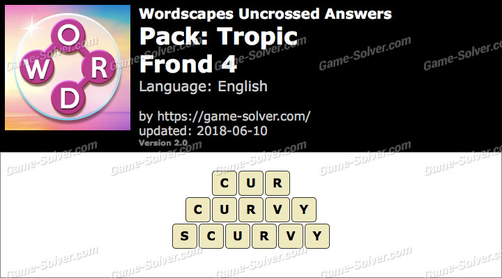 Wordscapes Uncrossed Tropic-Frond 4 Answers
