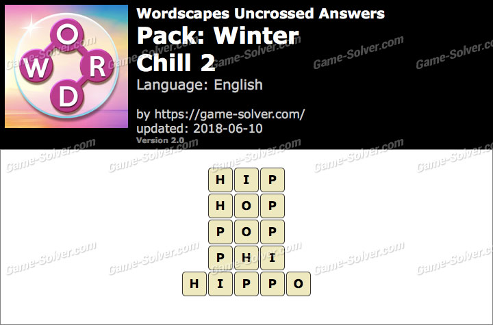 Wordscapes Uncrossed Winter-Chill 2 Answers