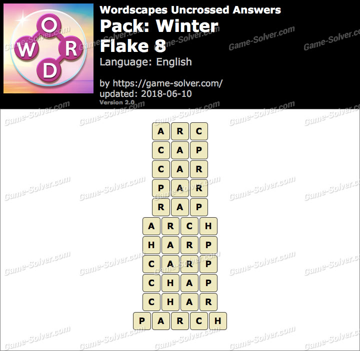 Wordscapes Uncrossed Winter-Flake 8 Answers