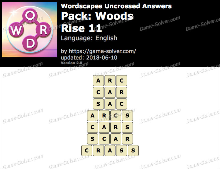 Wordscapes Uncrossed Woods-Rise 11 Answers