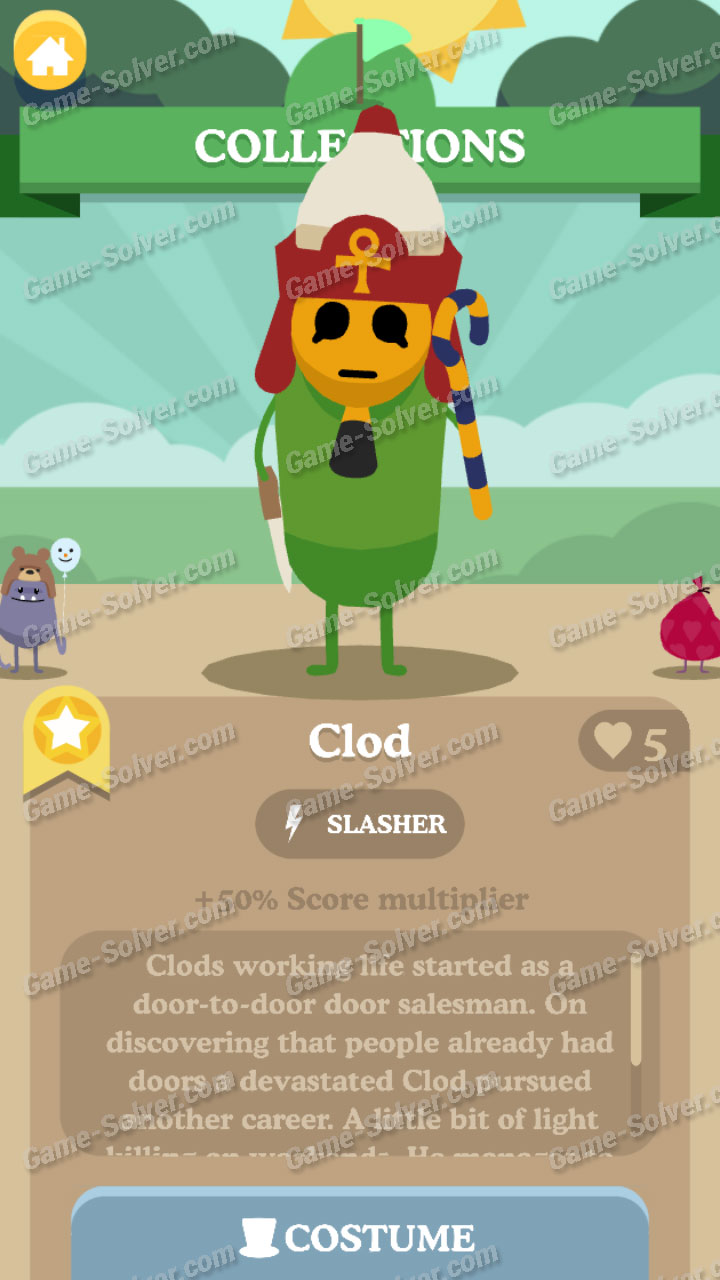 Dumb Ways To Die 3 Characters-Clod