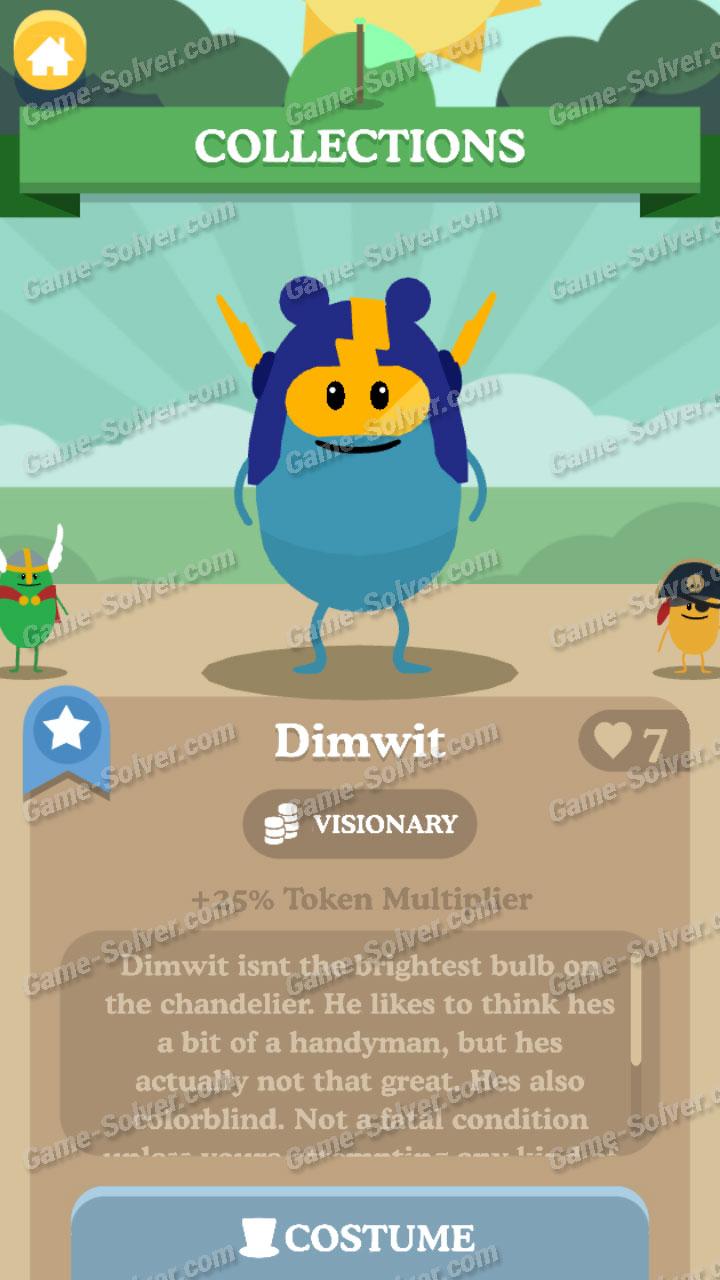 Dumb Ways To Die 3 Characters-Dimwit