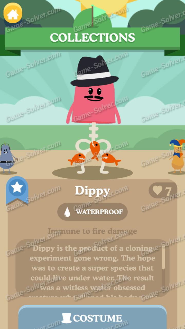 Dumb Ways To Die 3 Characters-Dippy