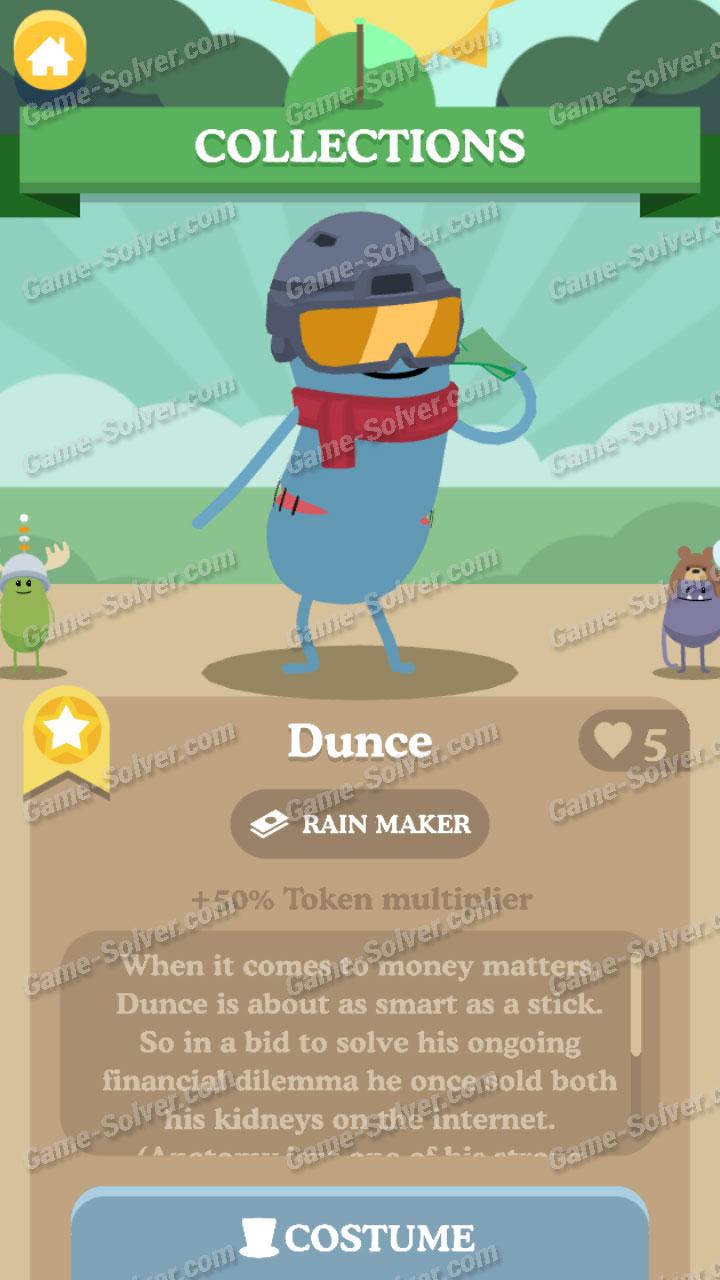 Dumb Ways To Die 3 Characters-Dunce