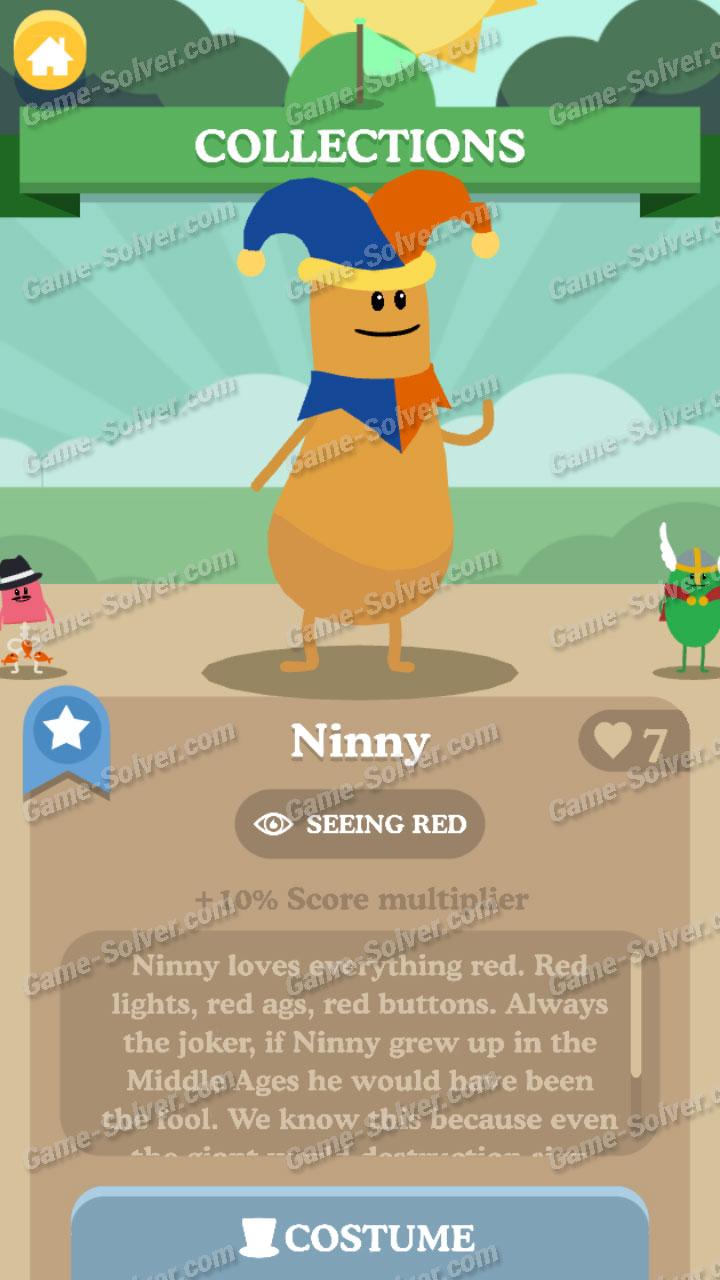 Dumb Ways To Die 3 Characters-Ninny