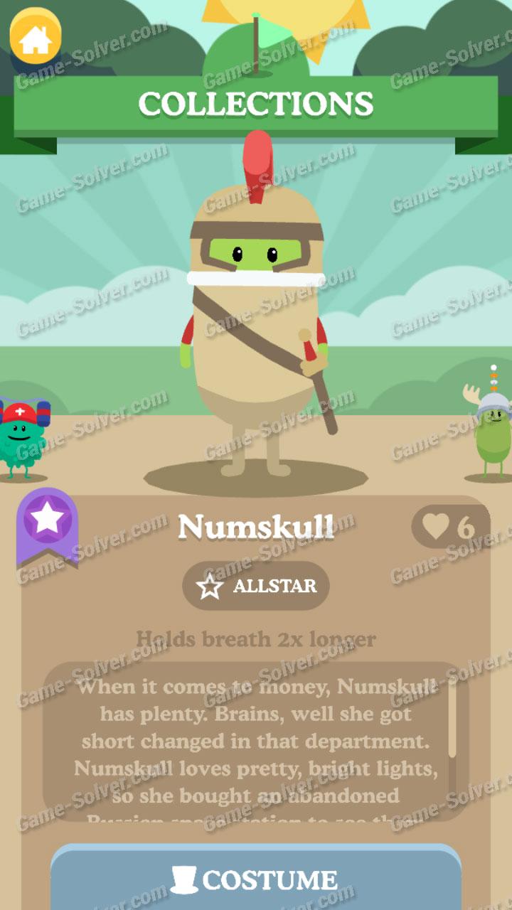 Dumb Ways To Die 3 Characters-Numskull