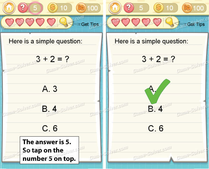 Tricky Challenge 2 Level 5 Answers
