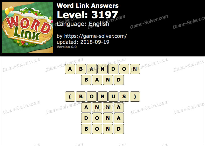 Word Link Level 3197 Answers