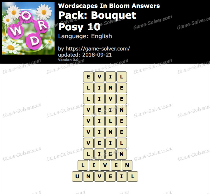 Wordscapes In Bloom Bouquet-Posy 10 Answers