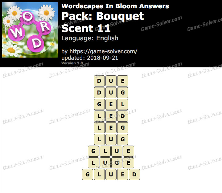 Wordscapes In Bloom Bouquet-Scent 11 Answers