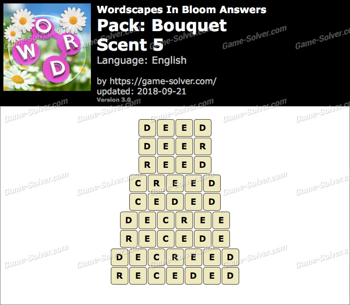 Wordscapes In Bloom Bouquet-Scent 5 Answers