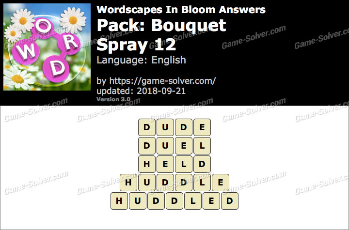 Wordscapes In Bloom Bouquet-Spray 12 Answers
