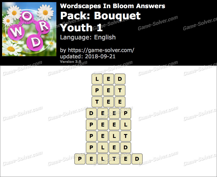 Wordscapes In Bloom Bouquet-Youth 1 Answers
