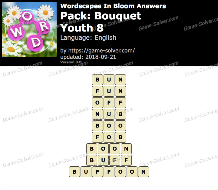 Wordscapes In Bloom Bouquet-Youth 8 Answers