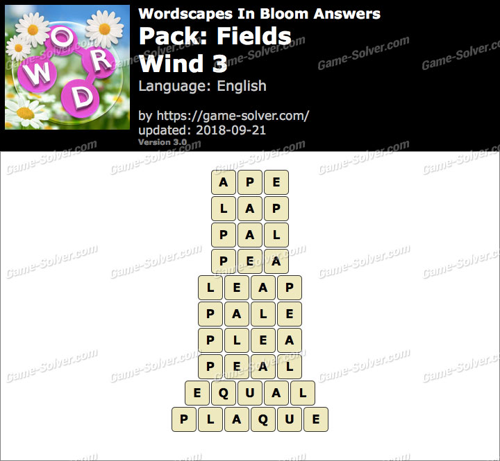 Wordscapes In Bloom Fields-Wind 3 Answers