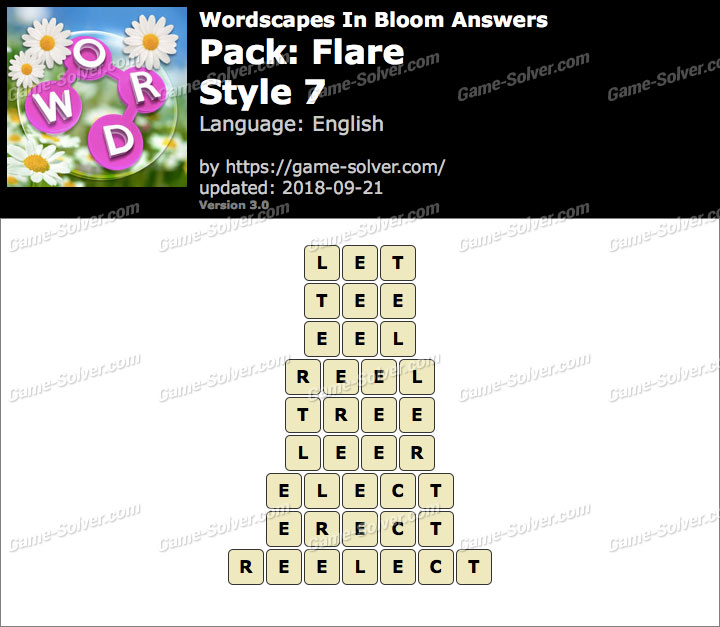 Wordscapes In Bloom Flare-Style 7 Answers