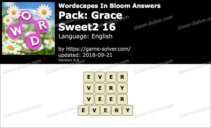 Wordscapes In Bloom Grace-Sweet2 16 Answers